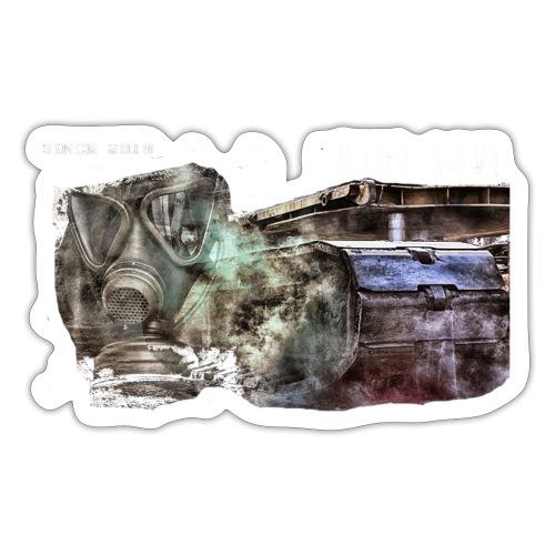 gas mask 2 white - Sticker