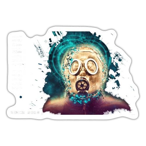 mask white - Sticker