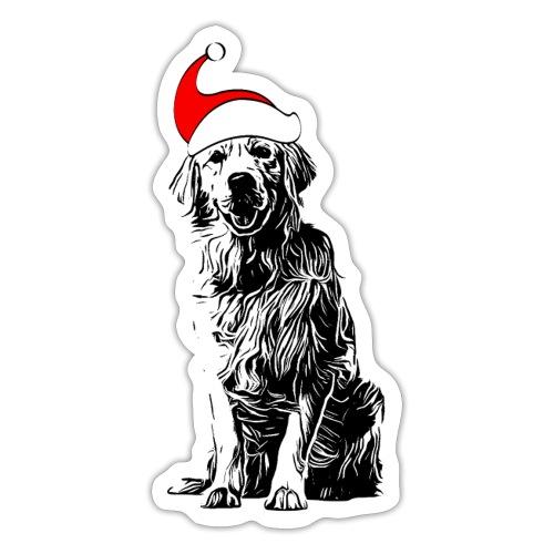 Weihnachten Golden Retriever Geschenk Hund - Sticker