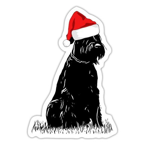 Riesenschnauzer Weihnachten Schnauzer Hund - Sticker