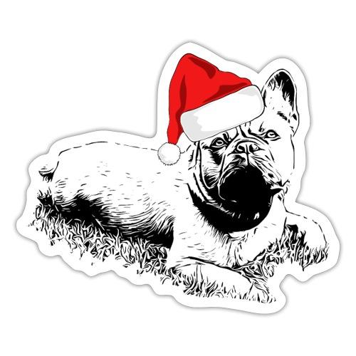 Weihnachten Französische Bulldogge Frenchie Hund - Sticker