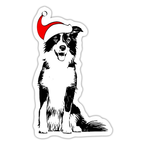 Weihnachten Border Collie Weihnachtsgeschenk Hund - Sticker