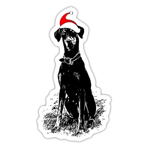 Weihnachten Dobermann Geschenkidee Hund - Sticker