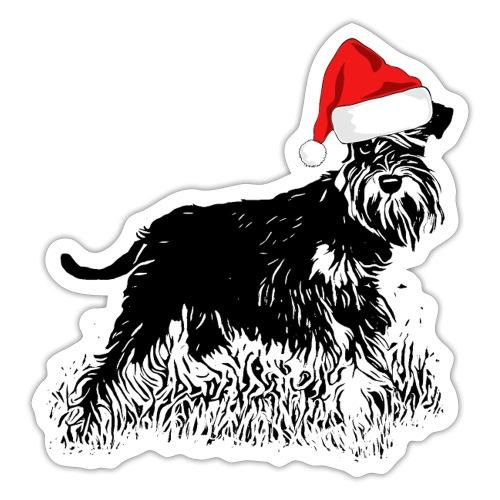 Weihnachten Zwergschnauzer Hund Schnauzer Geschenk - Sticker