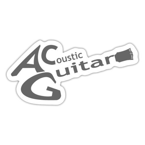 Acoustic Guitar Logo - Gray - Sticker