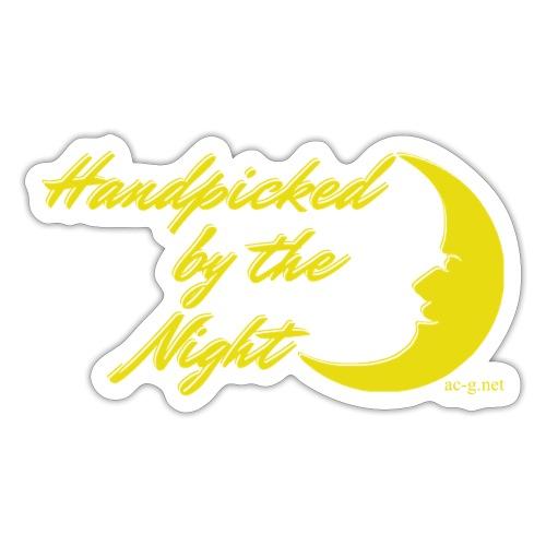 Handpicked design By The Night - Logo Yellow - Sticker