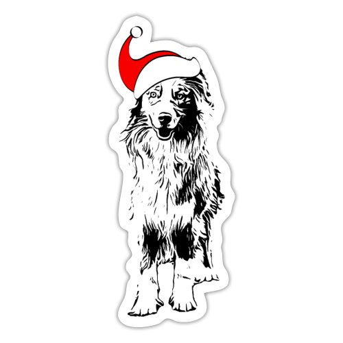 Weihnachten Australian Shepherd Aussie Hund - Sticker