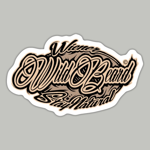 WildBeard Brand SePia - Sticker