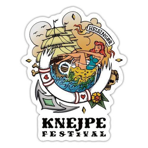 Knejpe Festival - tattoo med sort tekst - Sticker