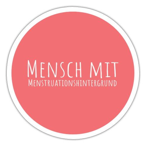 Mensch mit Menstrationshintergrund - Sticker