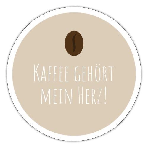 Kaffee gehört mein Herz - Sticker