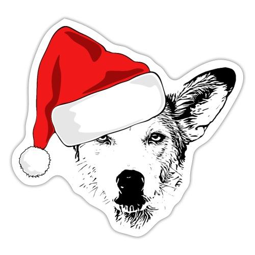 Weihnachten Podenco-Mix Hund Geschenk Podimix - Sticker