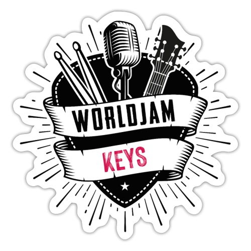 WorldJam Keys - Sticker