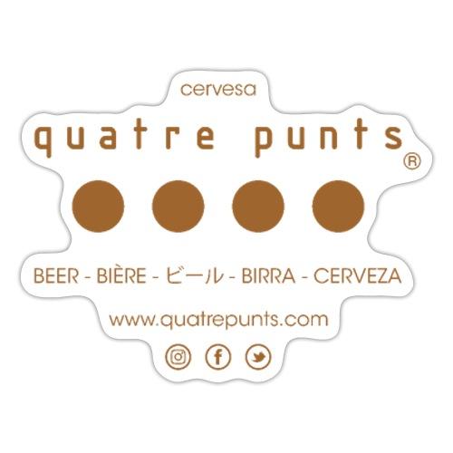 QUATRE PUNTS logo brown - Pegatina