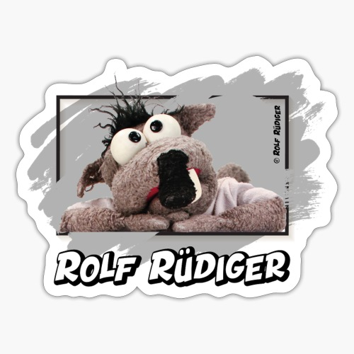Rolf Rüdiger verträumt - Sticker