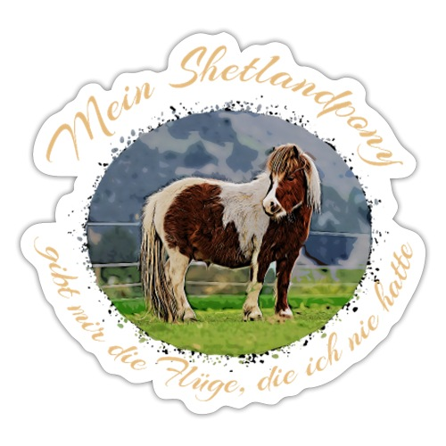 Reitersprüche Pferdesprüche Geschenkidee - Sticker