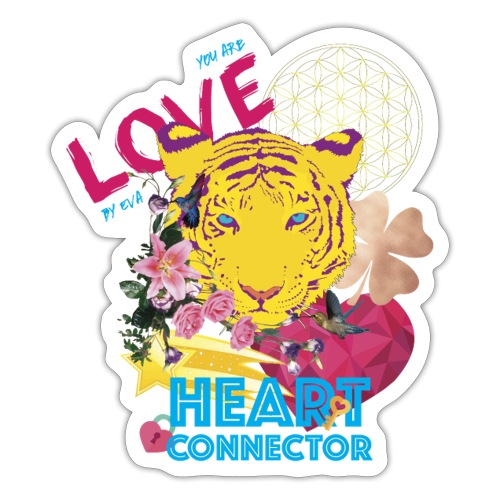 Design Heart Connector - Sticker