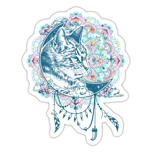 Boho Style Mandala Cat 1 - Sticker