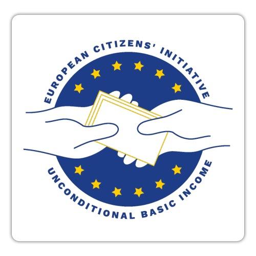 Logo eci-UBI 2020 OP WIT VIERKANT - Sticker