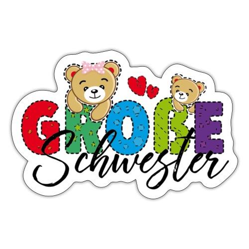 Große Schwester Teddy - Sticker