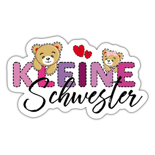Kleine Schwester Teddy - Sticker