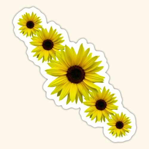 Sonnenblume, Sonnenblumen, Blumen - Sticker