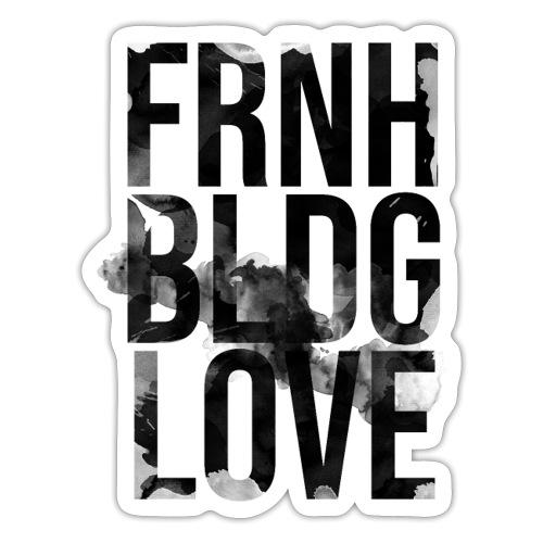 Französische Bulldogge Liebe wasserfarben - Sticker