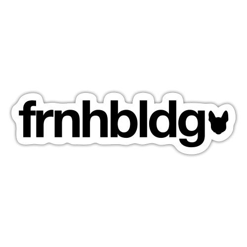 Französische Bulldogge Schriftzug mit Silhouette - Sticker