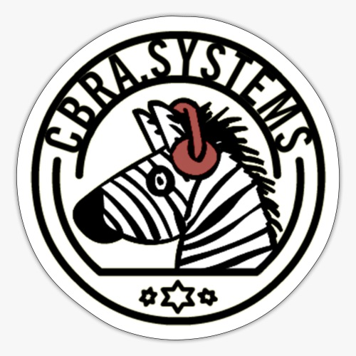 cbra systems head zebra headphone - Sticker