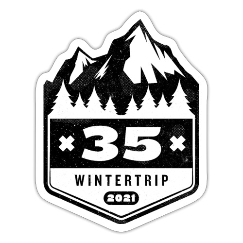 35 ✕ WINTERTRIP ✕ 2021 • BLACK - Sticker