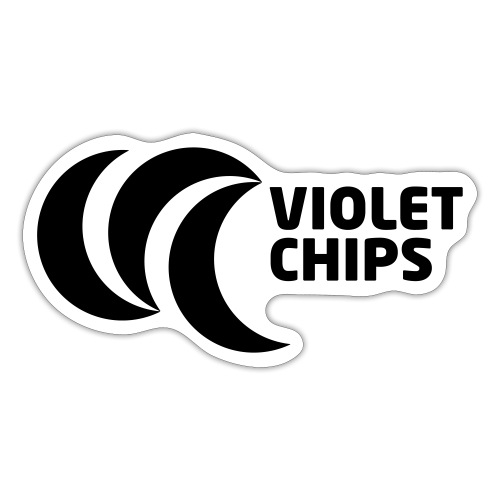Violet Chips LOGO - Sticker