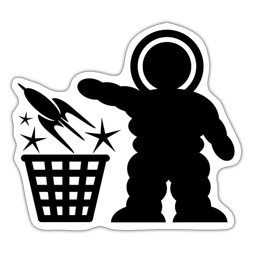 Space Waste LOGO Sticker - Sticker
