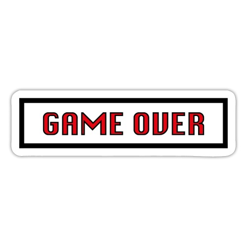 Game Over - Autocollant