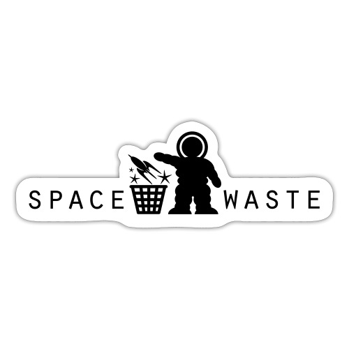 Space Waste LOGO BkRev with Text COMP - Sticker