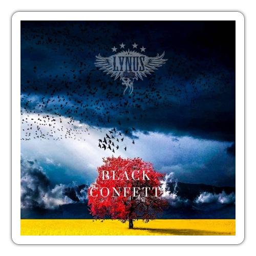 Black Confetti Promo Design - Sticker