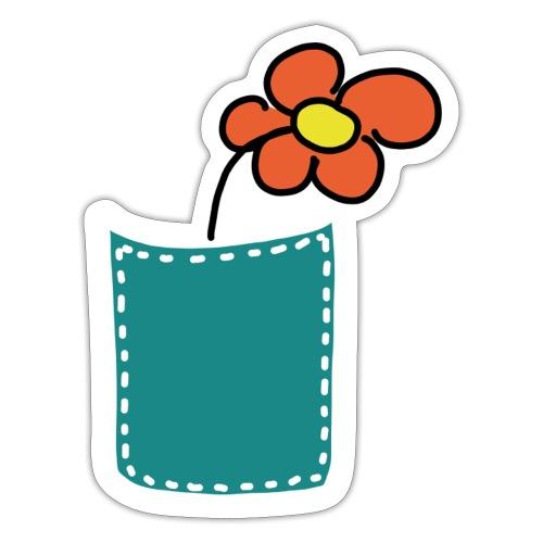 Brusttasche Blume - Sticker