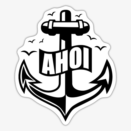 104 Ahoi Anker Möwen maritim - Sticker