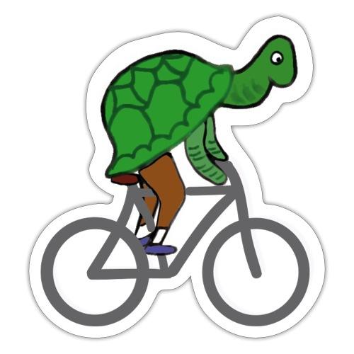 Schildkröte fährt Rad - Sticker