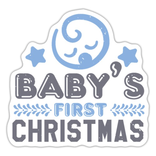 Baby`s First Christmas - Sticker