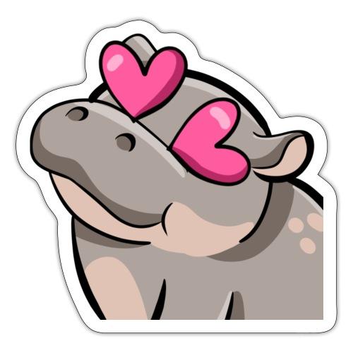 Cute Hippo - Sticker