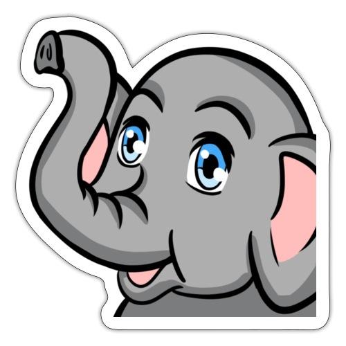 Trunks Up elephant - Sticker