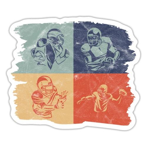 Retro Vintage American Football Spieler - Sticker