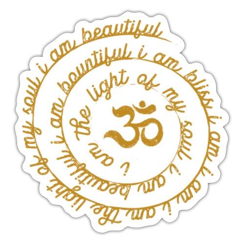Yoga Mantra Fashion I am the light of my soul - Sticker