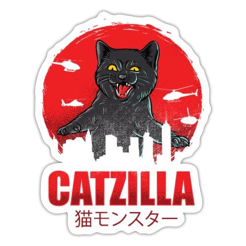 Catzilla Katzen Horror B-Movie Parodie - Sticker