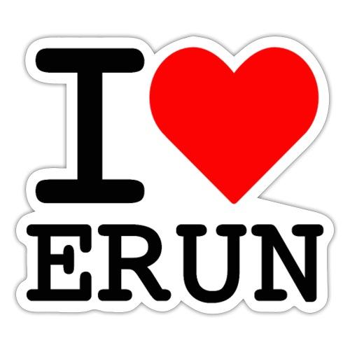 I love Erun - Autocollant