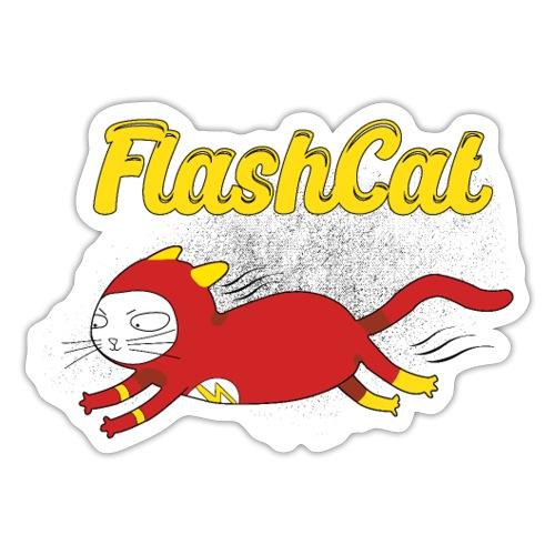 FlashCat Vintage Comic Katze Superheld - Sticker