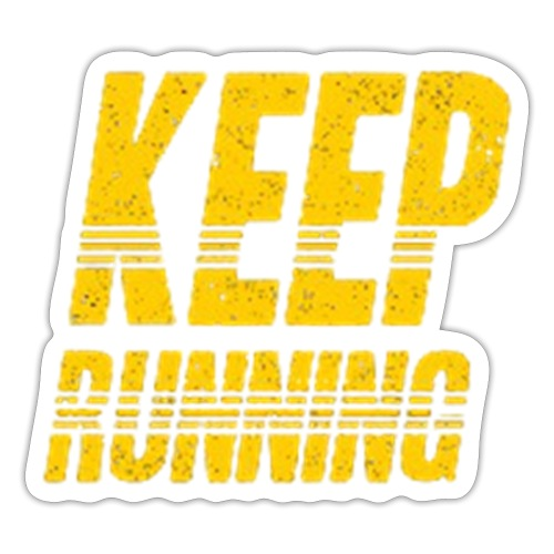 Keep running - Sticker