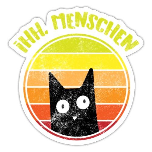 Ih, Menschen Lustiges Katzen Motiv - Sticker
