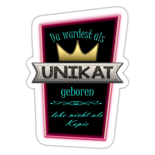 Unikat glow - Sticker