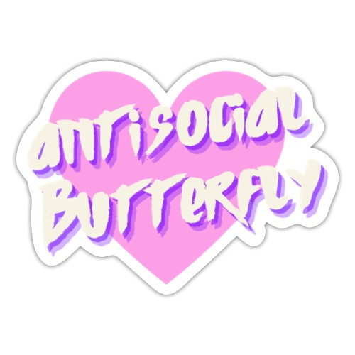 Antisocial butterfly - Naklejka